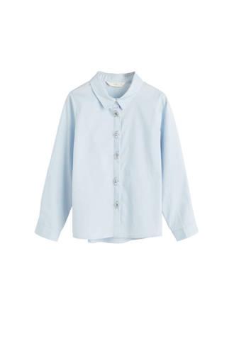 blouse met sierstenen blauw