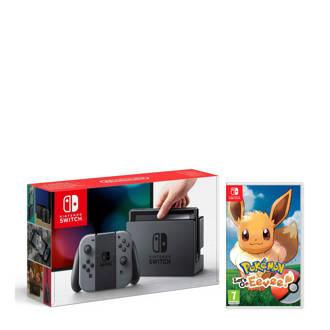 Switch grijs + Pokémon: Let's Go, Eevee!