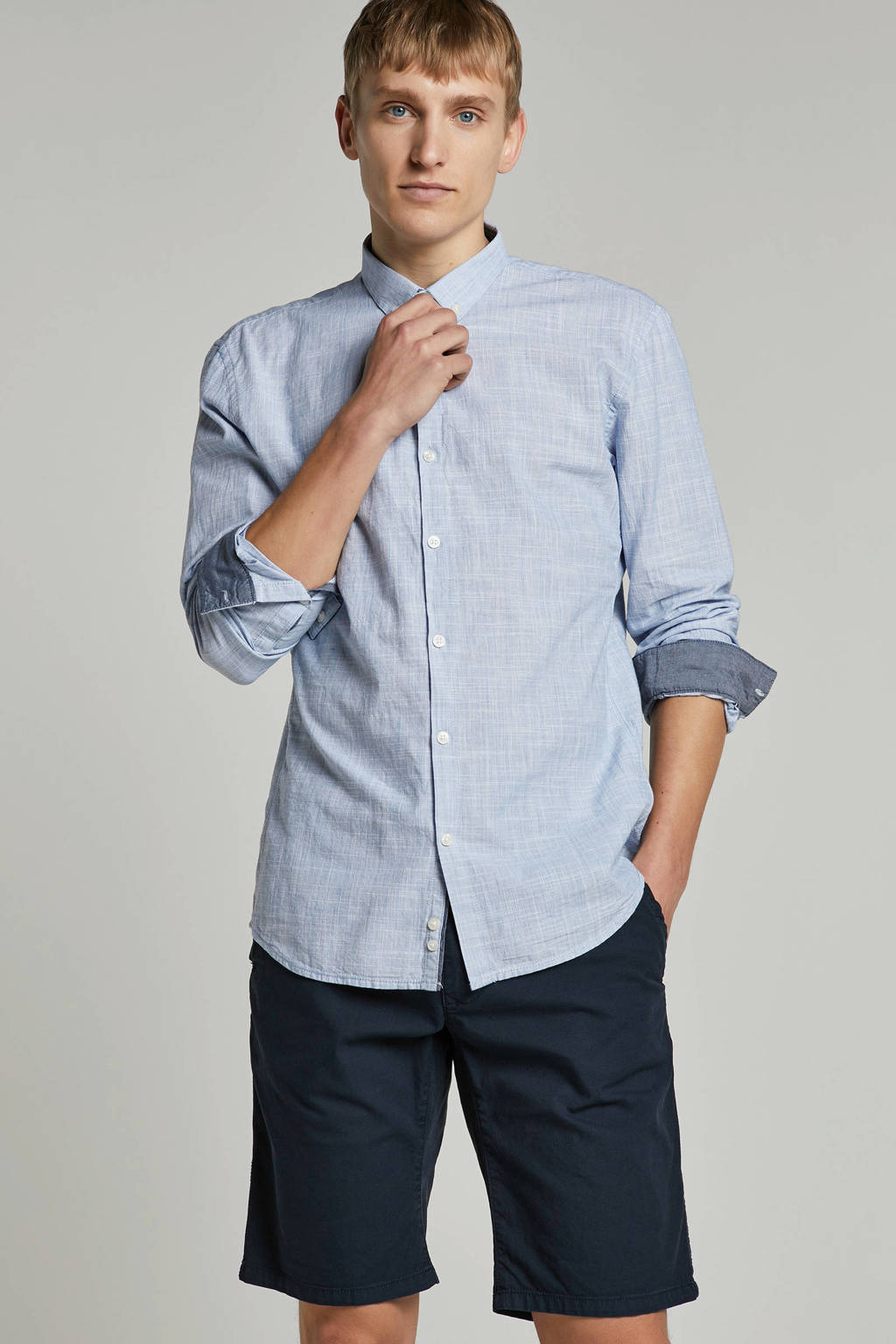 Tom Tailor Denim overhemd, Lichtblauw melange