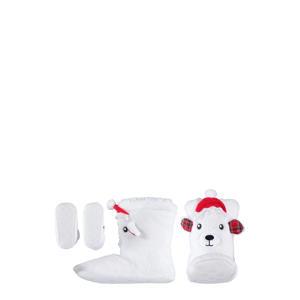 kerst sloffen wit