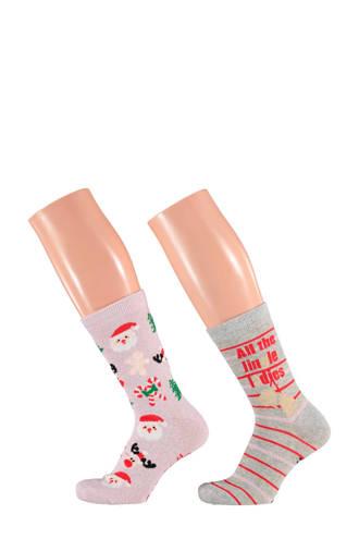 kerst sokken giftbox (2 paar)