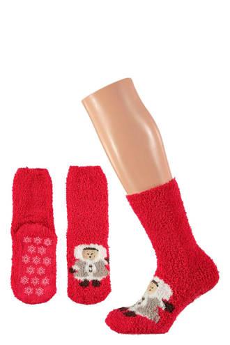 kids kerst sokken giftbox rood