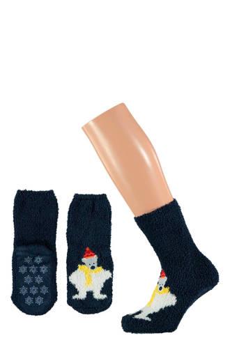 kids kerst sokken giftbox zwart
