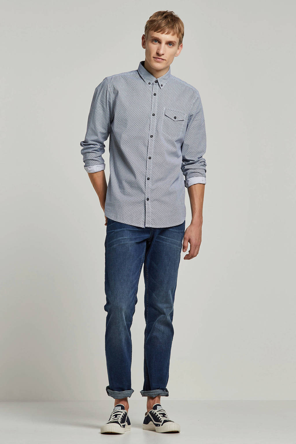 Tom Tailor Denim straight fit jeans Aeden mid stone wash