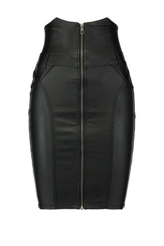 coated kokerrok zwart