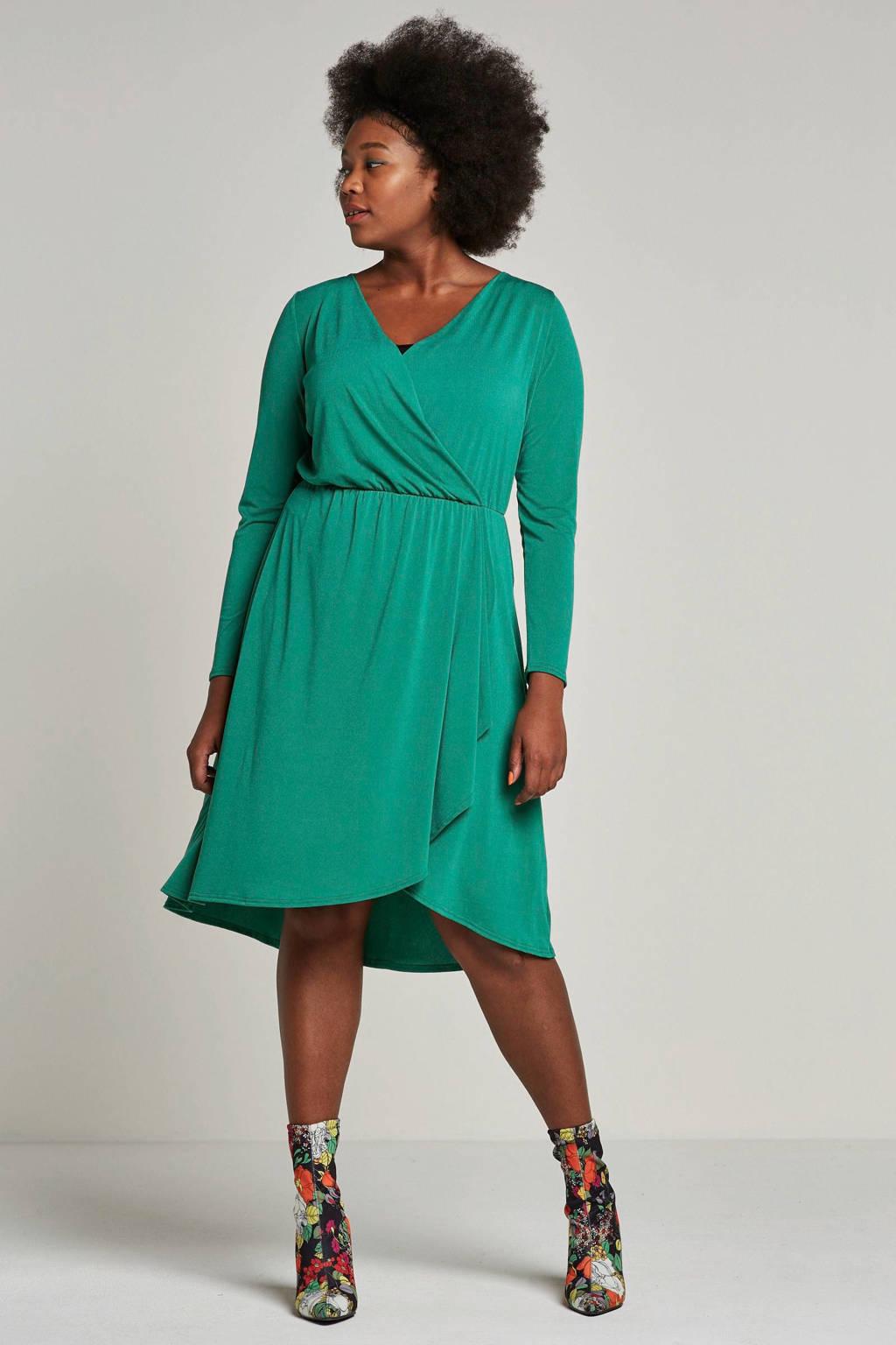 ONLY CARMAKOMA jurk groen, Groen