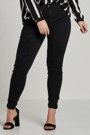 high waist skinny jeans CARSTORM zwart