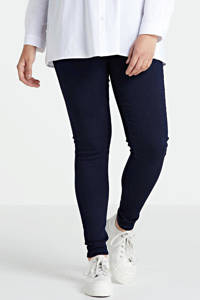 ONLY CARMAKOMA high waist jeans CARSTORM dark blue denim, Donkerblauw