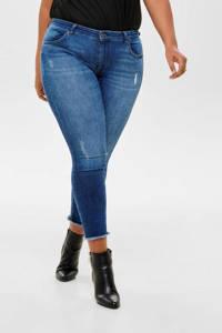 ONLY CARMAKOMA jeans carWILLY met slijtage details blauw, Blauw denim