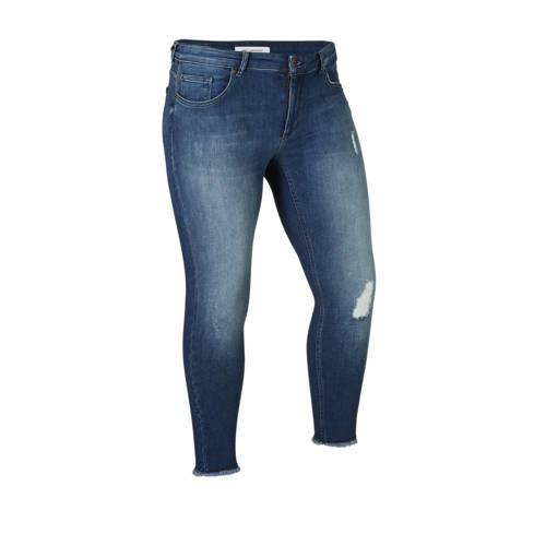 ONLY CARMAKOMA jeans met slijtage details