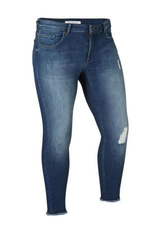 jeans met slijtage details