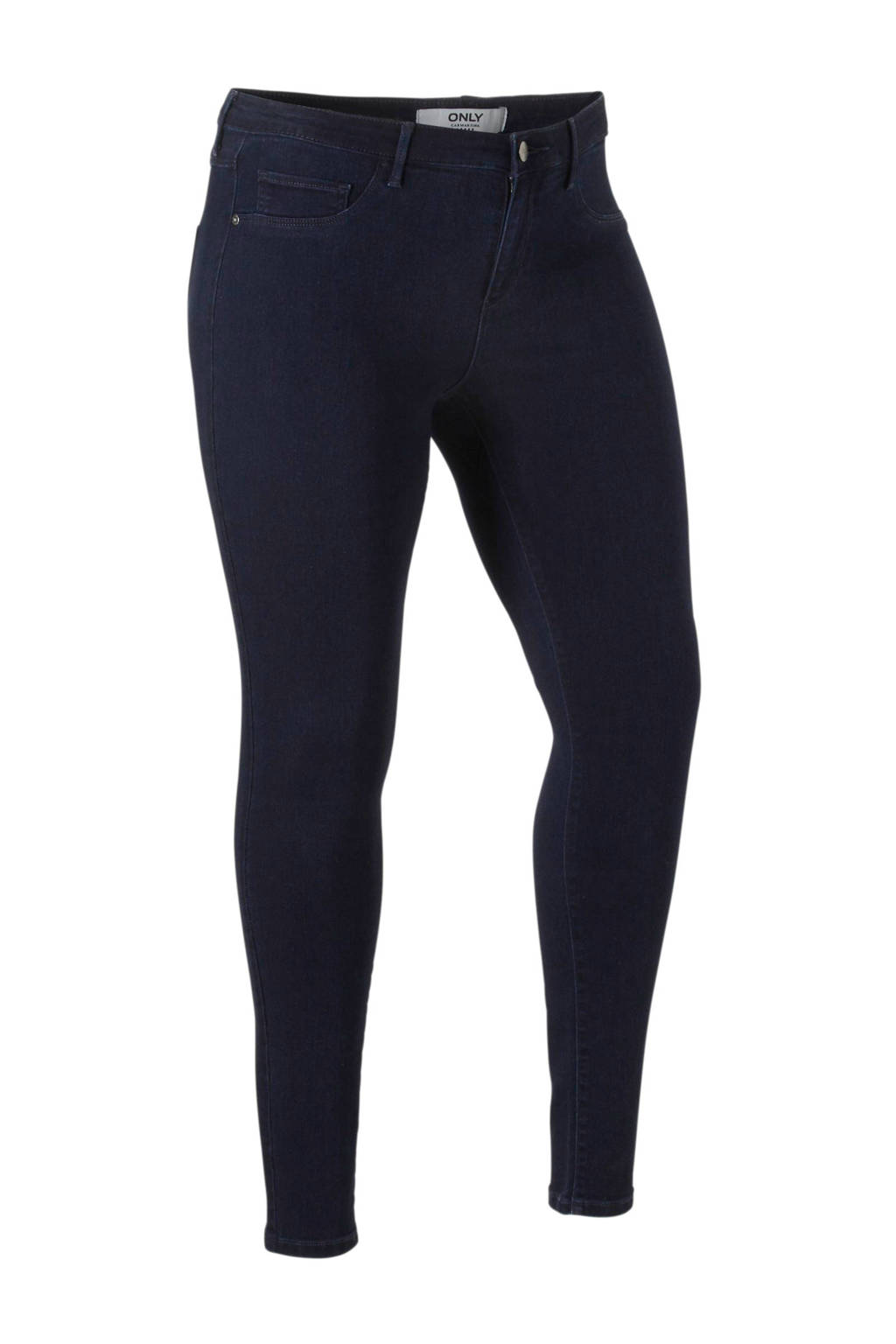 ONLY carmakoma skinny jeans, Donkerblauw