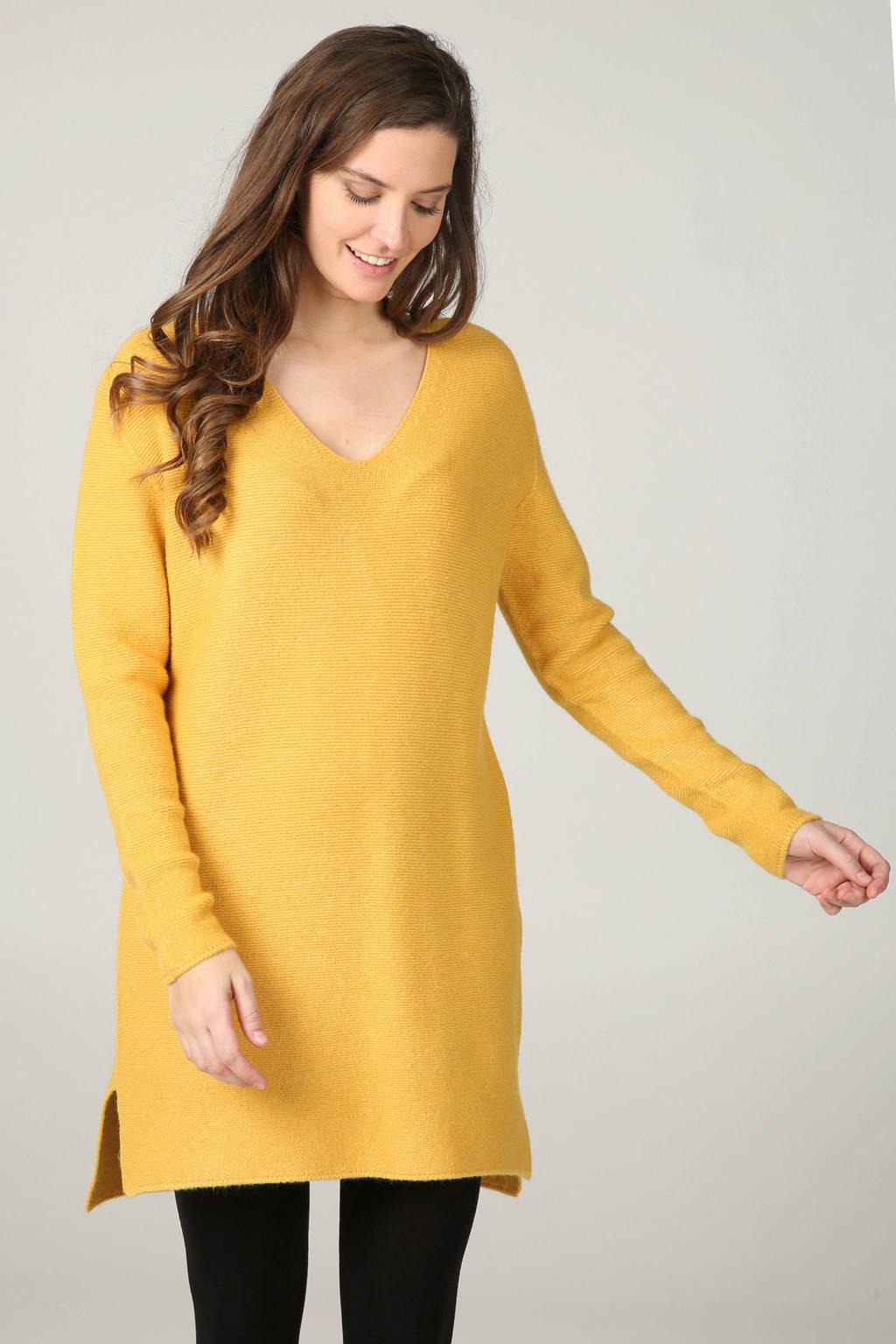 Cassis gebreide jurk geel, Oker