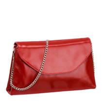 vanHaren 5th Avenue  leren enveloppe tas rood
