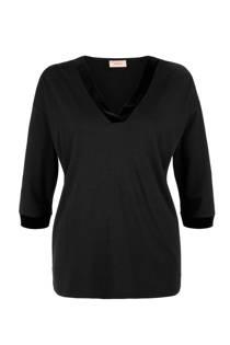 TRIANGLE T-shirt met 3/4 mouwen zwart