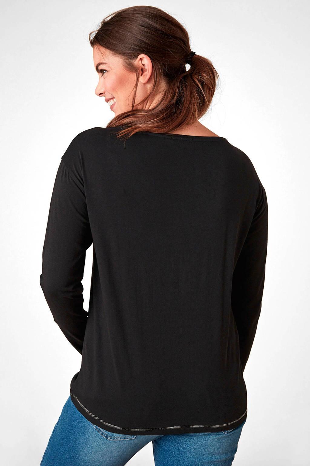 Borduursels Zwart Trianglet Met shirt Trianglet shirt wvxqY1F