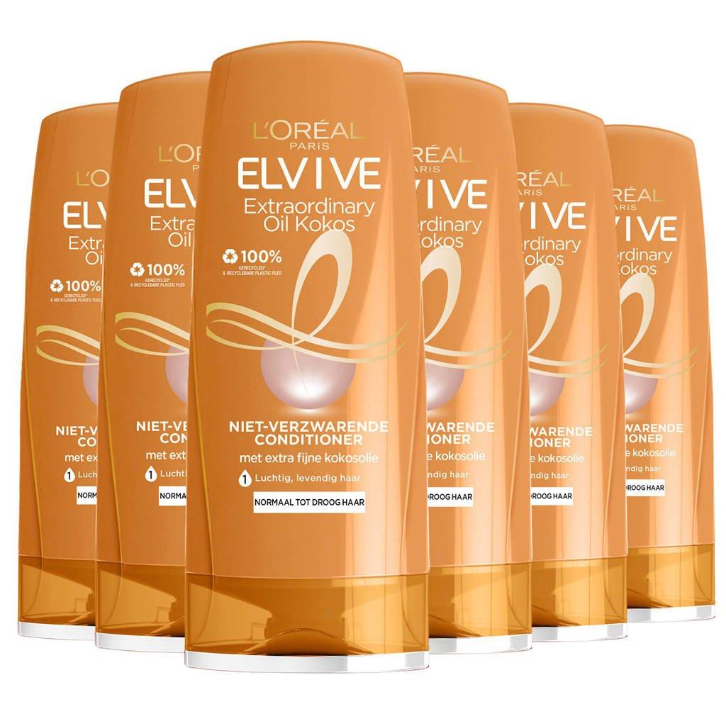 L'Oréal Paris Elvive Extraordinary Oil kokos crèmespoeling - 6x 200ml multiverpakking