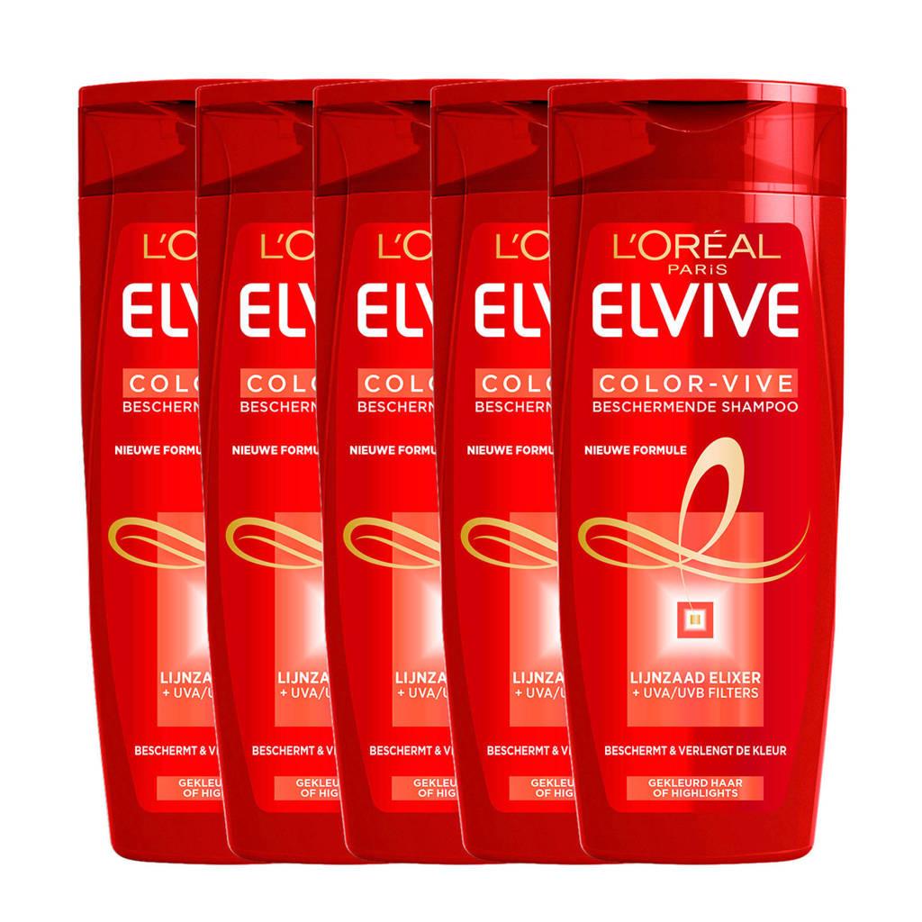 L'Oréal Paris Elvive Color Vive shampoo - 5x 250ml multiverpakking