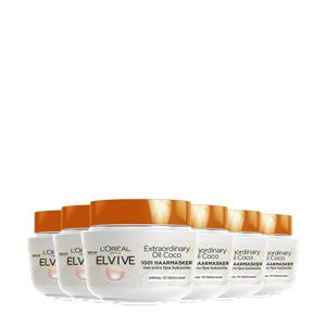 Hair Expert Elvive Extraordinary kokosolie haarmasker - 6 x 300 ml