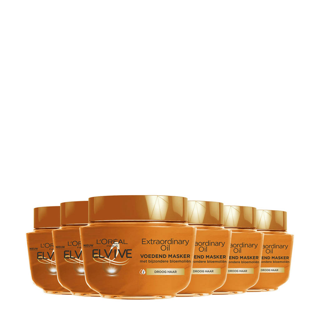 L'Oréal Paris Elvive Elvive Extraordinary Oil haarmasker - 6 stuks