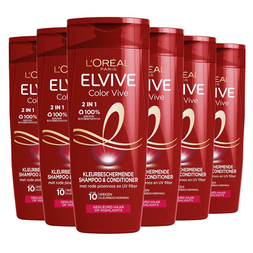 L'Oréal Paris Elvive 2-in-1 Shampoo & Conditioner - 6x 250ml multiverpakking