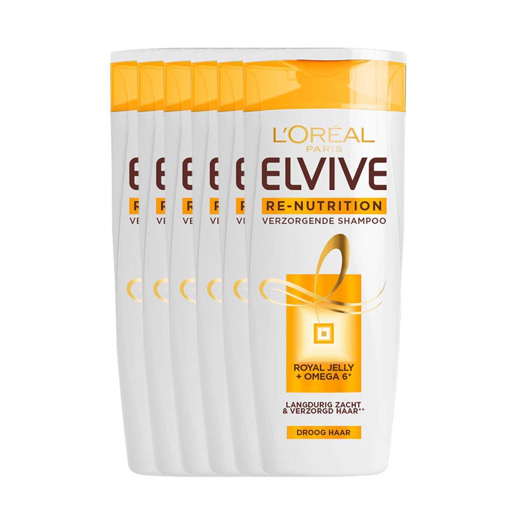 L'Oréal Paris Elvive Re-Nutrition shampoo -6x 250ml multiverpakking