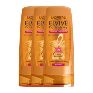 Elvive Extraordinary Oil cremespoeling - 3x 200 ml