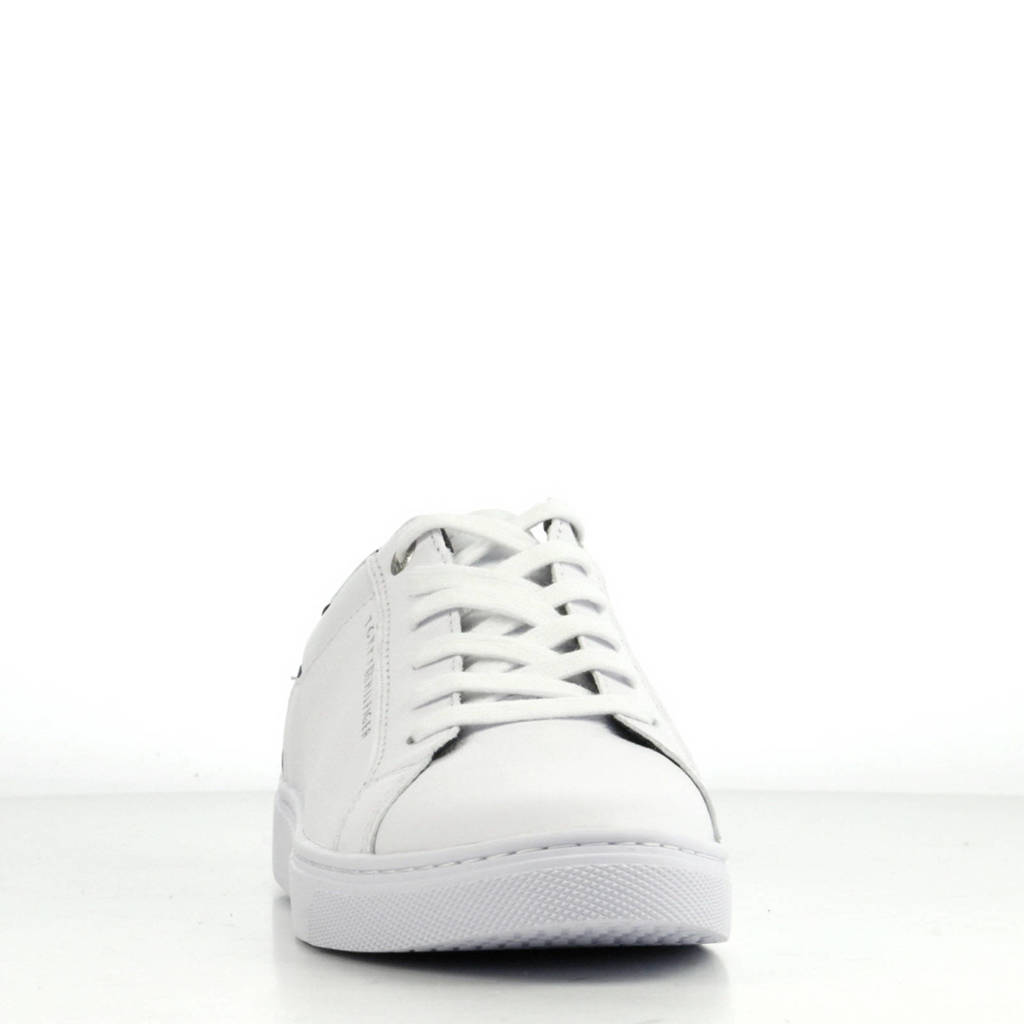Essential Wit Leren Hilfiger Sneakers Tommy zw0CxEqx