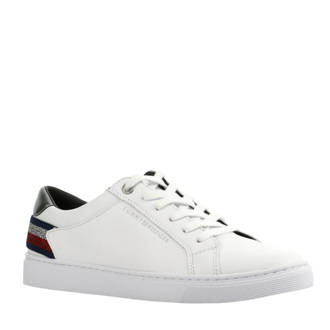 leren Essential sneakers wit
