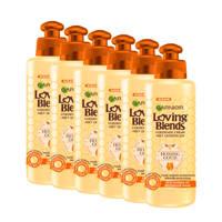 Garnier Loving Blends Honing Goud Leave-in Crème - 6x 200ml multiverpakking