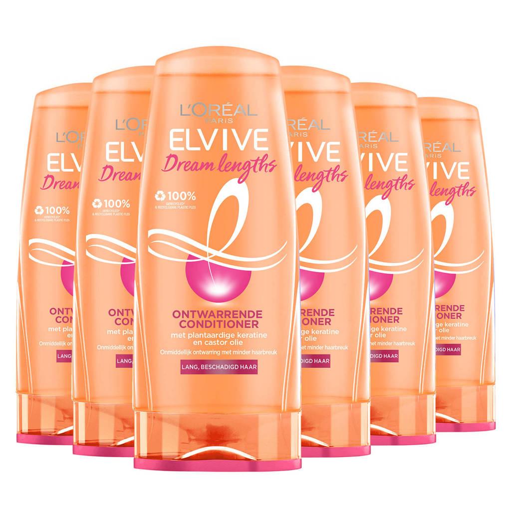 L'Oréal Paris Elvive Dream Lengths herstellende conditioner - 6 stuks
