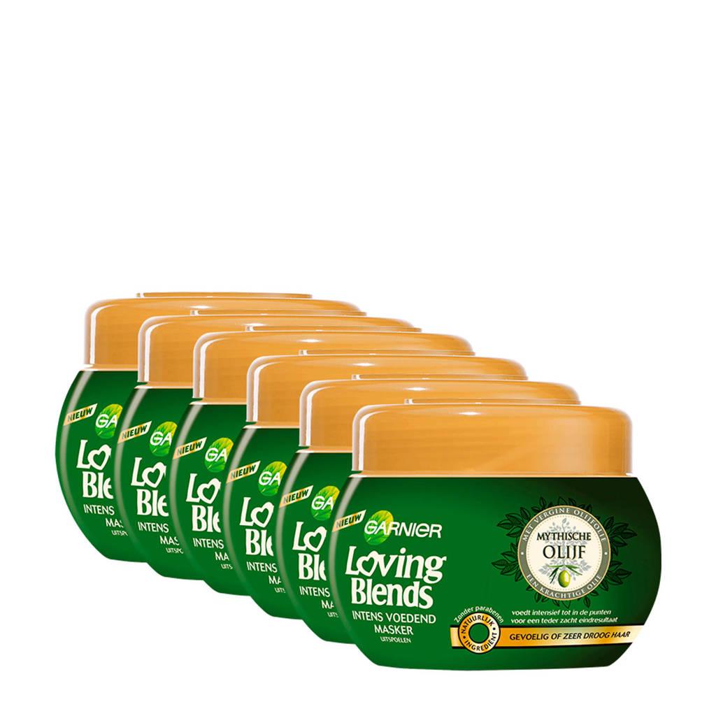 Garnier Loving Blends Mythische Olijf Intens Voedend haarmasker - 6x 200 ml multiverpakking
