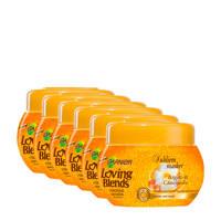 Garnier Loving Blends Argan & Cameliaolie Subliem haarmasker - 6x 300ml multiverpakking