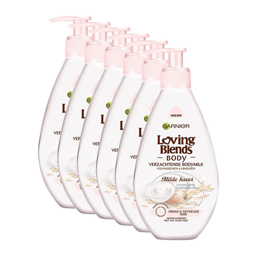 Garnier Loving Blends Body Milde Haver verzachtende bodymilk - 6x 250ml multiverpakking
