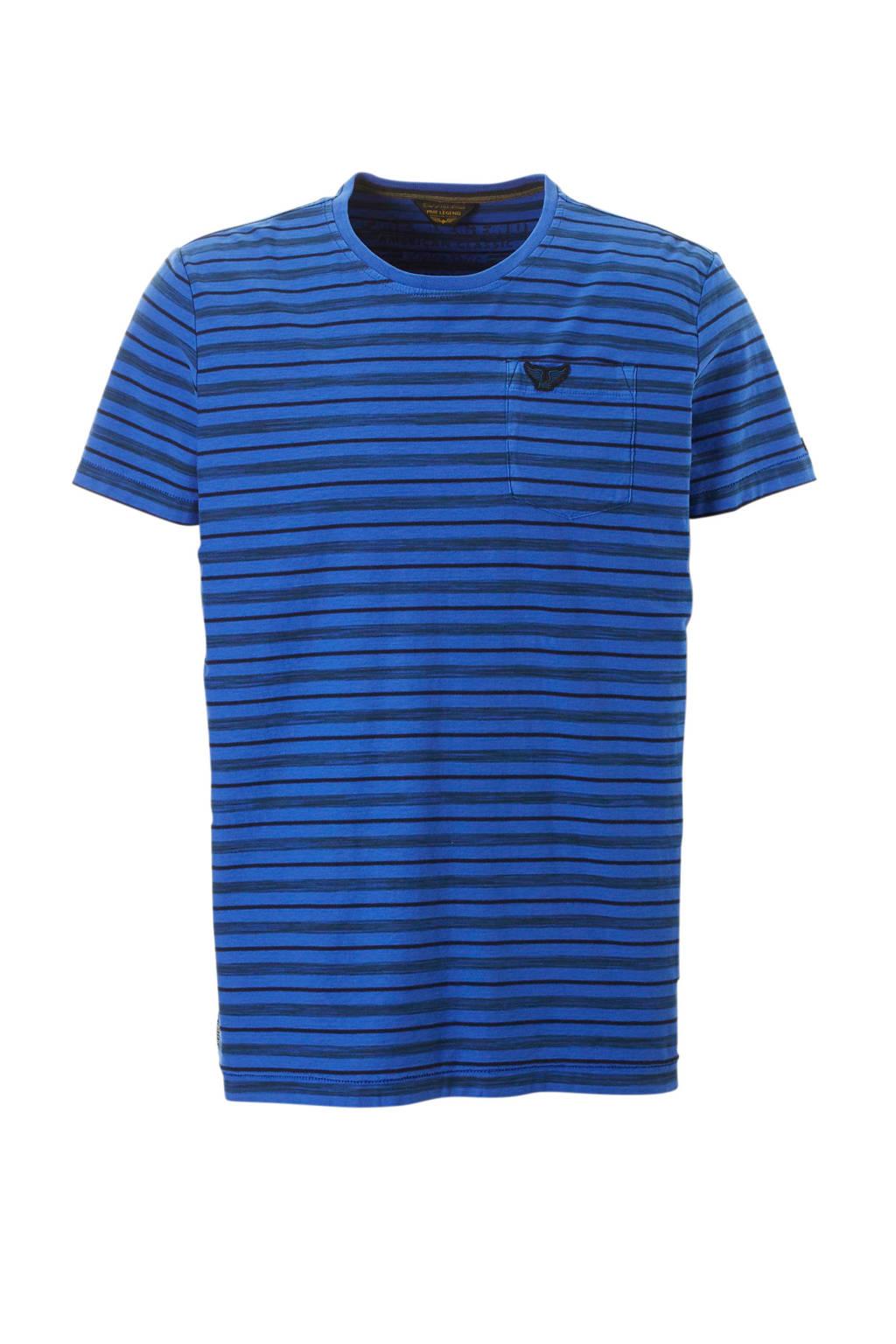 PME Legend gestreept T-shirt blauw, Blauw