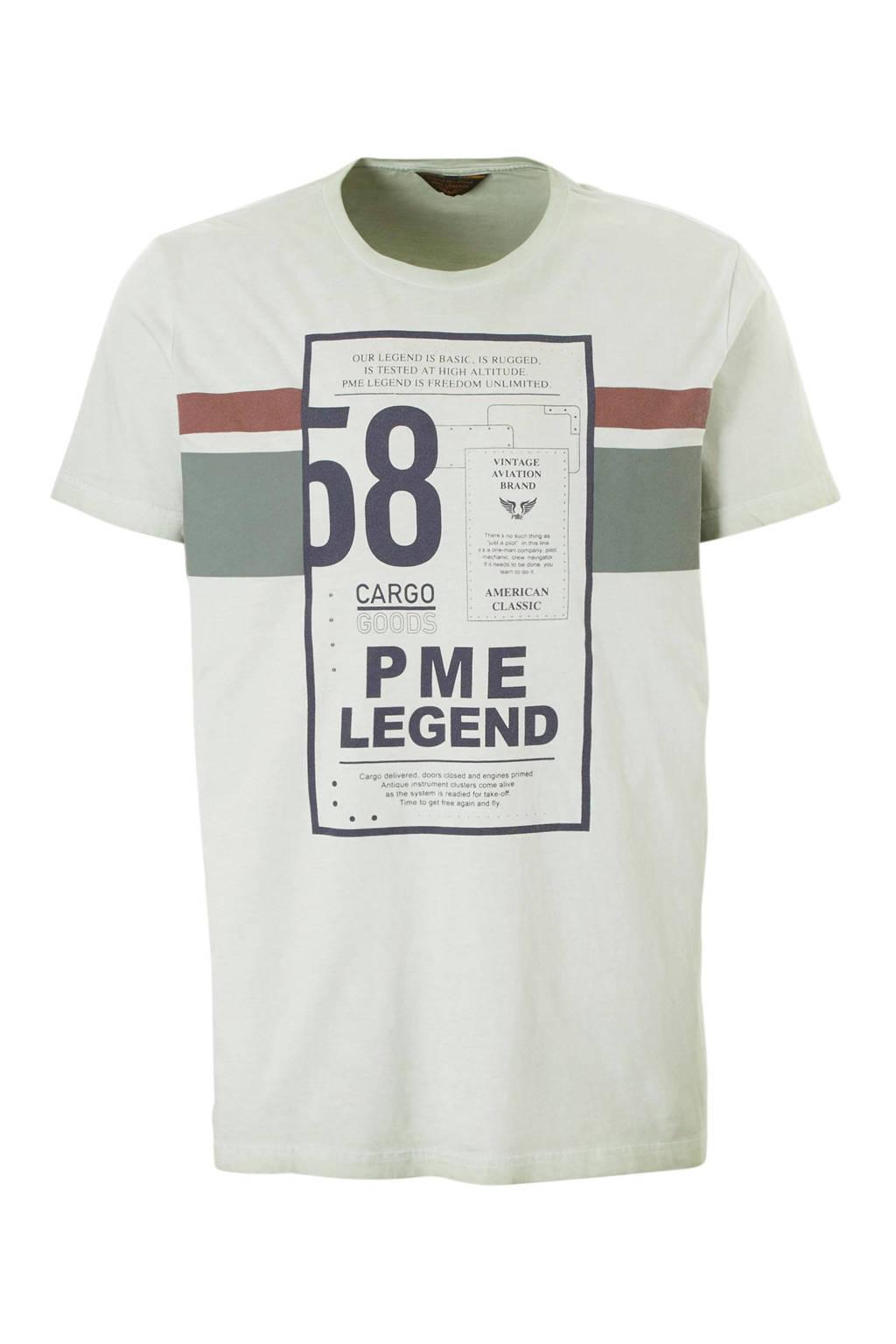 PME Legend T-shirt met print groen, Groen