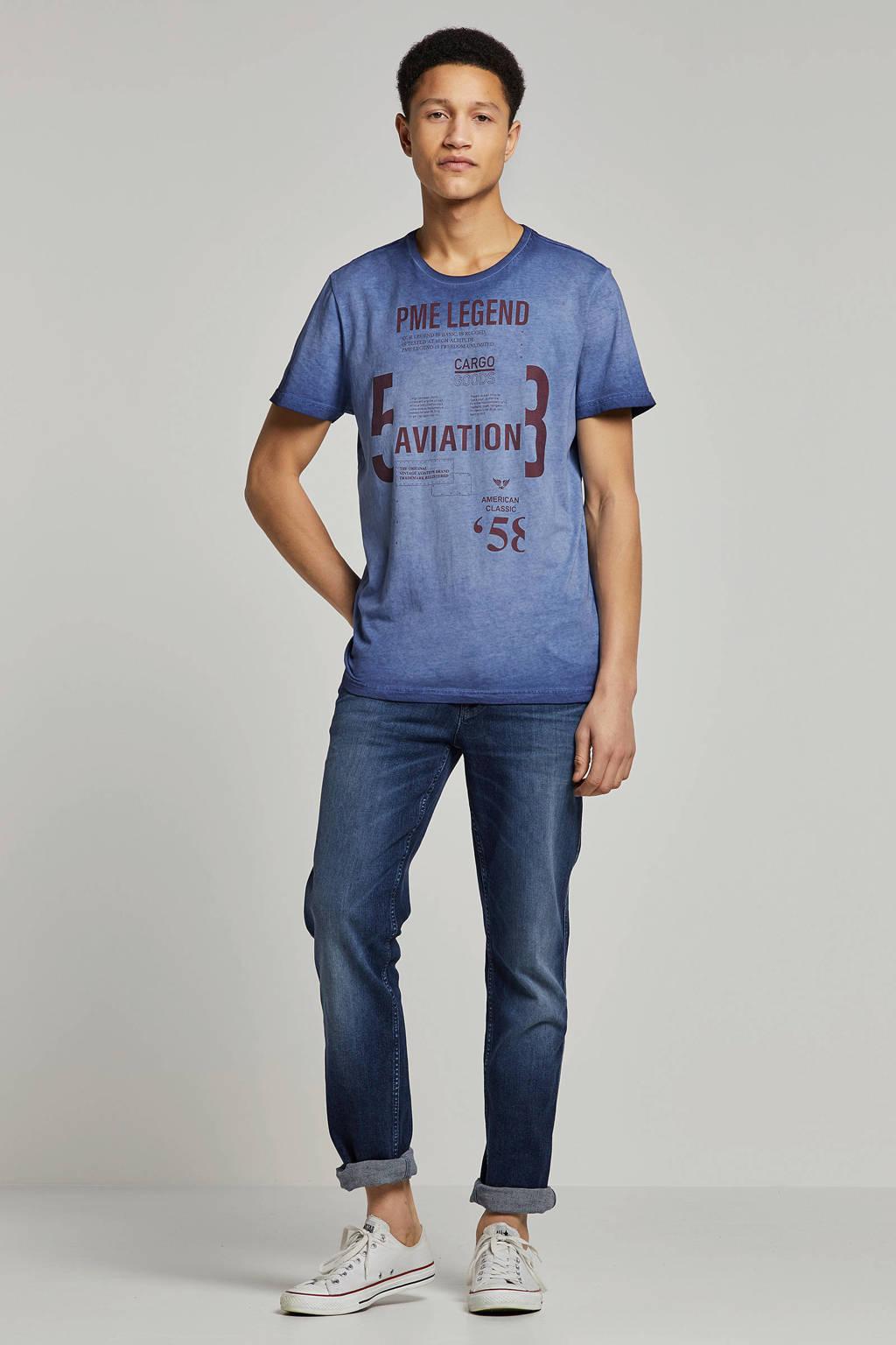 PME Legend T-shirt met print blauw, Blauw