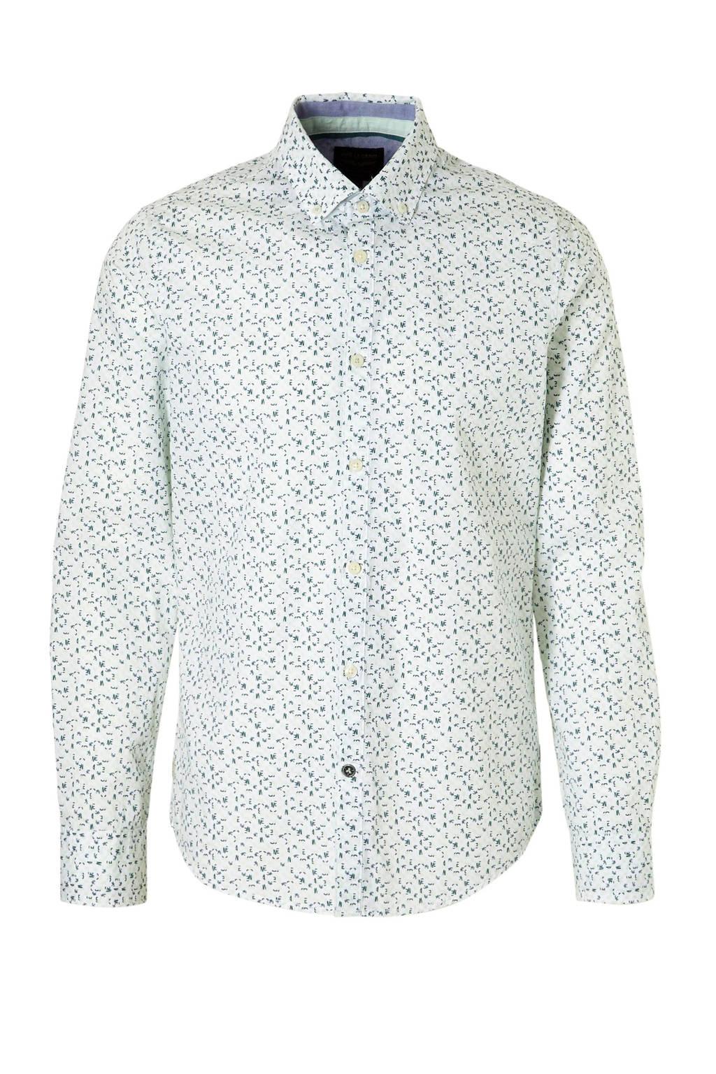 PME Legend overhemd, Wit/groen