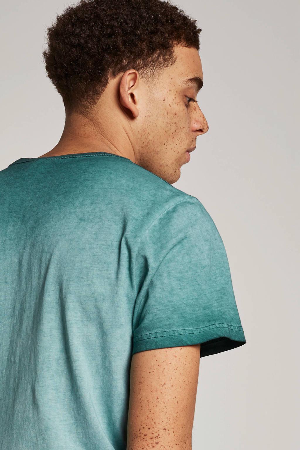 PME Legend T-shirt met print donkergroen, Donkergroen
