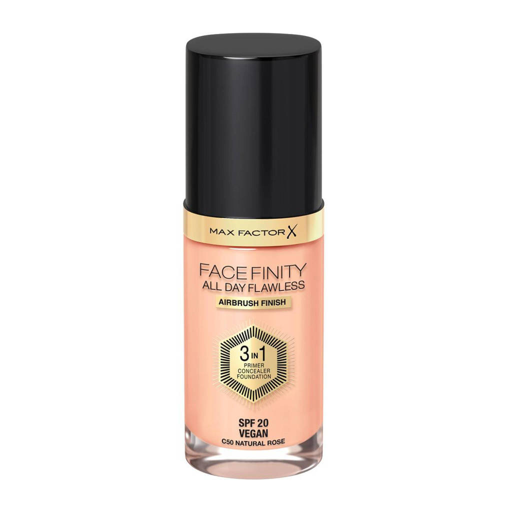 Max Factor Facefinity All Day Flawless 3-in-1 Liquid  50 Natural Foundation