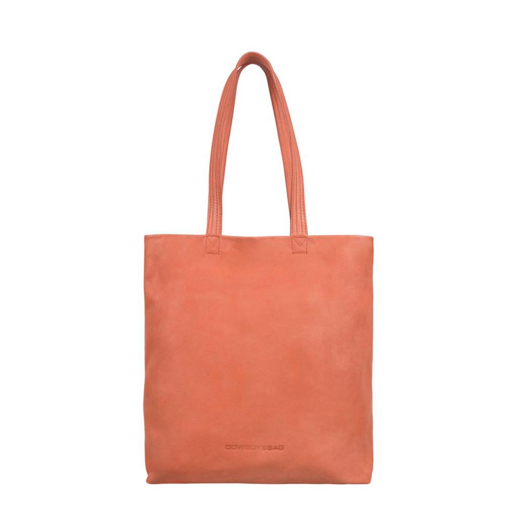 Cowboysbag  leren shopper Alma Coral, 660 - Coral