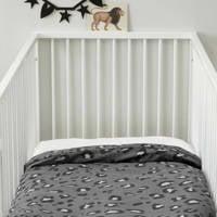 whkmp's own ledikant dekbedovertrek (100x135 cm), Grijs, Baby (100 cm breed)