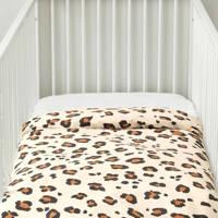 wehkamp home ledikant dekbedovertrek (100x135 cm), Beige, Baby (100 cm breed)