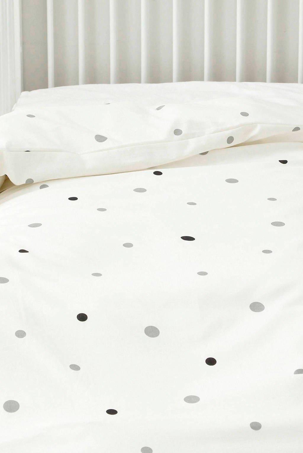 whkmp's own ledikant dekbedovertrek (100x135 cm), Wit/zwart