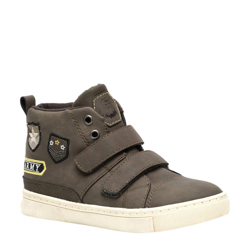 Scapino Blue Box  sneakers met patches kakigroen, Kakigroen