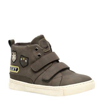 Blue Box  sneakers met patches kakigroen