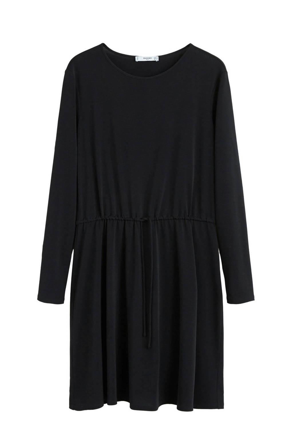 Mango asymmetrishe jurk zwart, Zwart