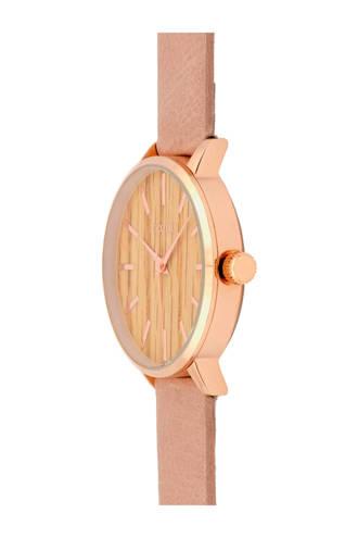 leren horloge C9251 roze