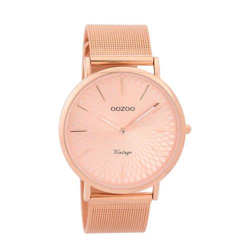 OOZOO Horloge Vintage rosékleurig mesh 40 mm C9343