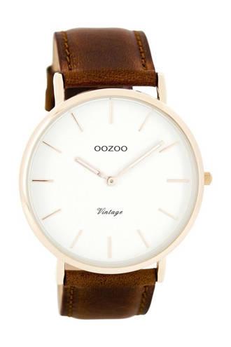 leren horloge C7756 bruin